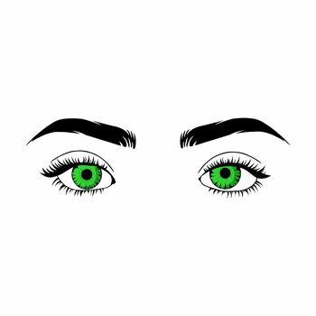 Oczy zielone cover