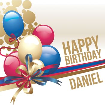 Happy Birthday Daniel 3 Today Kapow Wow Wham Bam Blast Grusskarte Design Postkarte Von Ltfrstudio Redbubble
