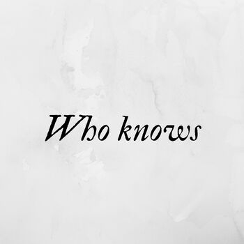 Who Knows cover