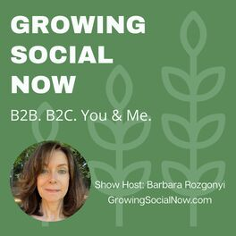 Show cover of Growing Social Now with Barbara Rozgonyi